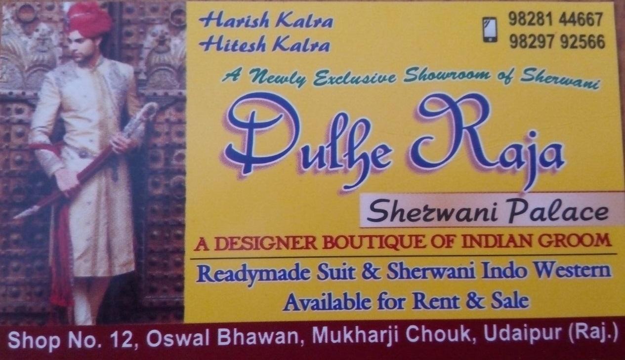 Dulhe Raja Sherwani Palace